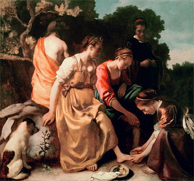 Diana and her Companions, c.1655/56 | Vermeer | Painting Reproduction