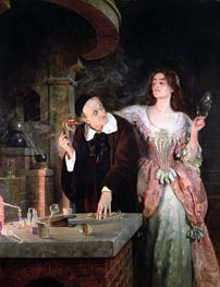 John Collier | The Laboratory | Giclée Canvas Print
