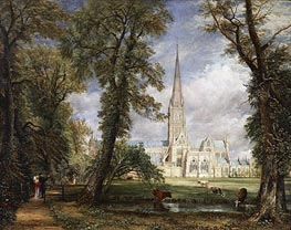 Constable | Salisbury Cathedral from the Bishop's Garden, 1826 | Giclée Canvas Print