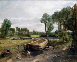 Constable | Boat Building near Flatford Mill, 1815 | Giclée Canvas Print