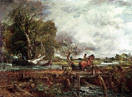 Constable | The Leaping Horse, 1825 | Giclée Canvas Print
