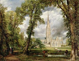 Constable | View of Salisbury Cathedral from the Bishop's Grounds, c.1822 | Giclée Canvas Print