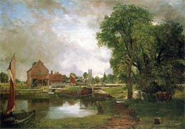 Constable | Dedham Lock and Mill, c.1820 | Giclée Canvas Print