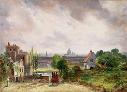 Constable | View of the City of London from Sir Richard Steele's Cottage, Hampstead, c.1832 | Giclée Canvas Print