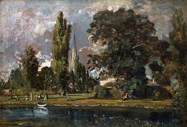 Constable | Salisbury Cathedral and Leadenhall from the River Avon | Giclée Canvas Print