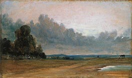 Constable | A View on Hampstead Heath with Harrow in the Distance, 1822 | Giclée Canvas Print