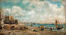 Constable | The Marine Parade and Chain Pier, Brighton (Sketch), a.1826 | Giclée Canvas Print
