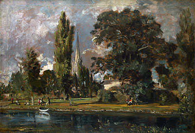 Salisbury Cathedral and Leadenhall from the River Avon, 1820 | Constable | Giclée Canvas Print