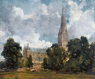 Salisbury Cathedral from the Southwest, 1820 | Constable | Giclée Canvas Print