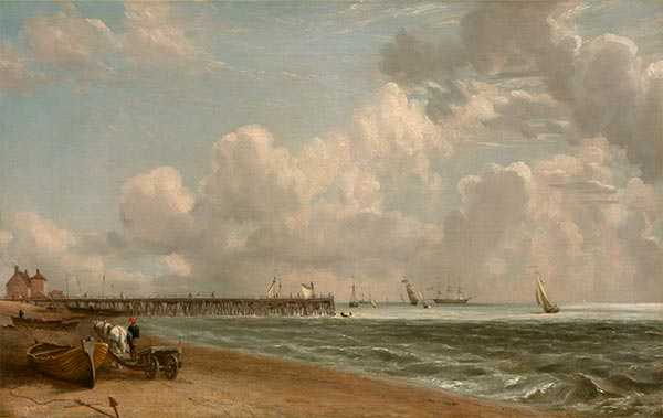 Yarmouth Jetty, c.1822/23   Constable   Painting Reproduction