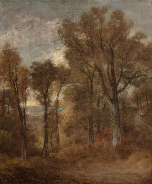 Woodland Scene Overlooking Dedham Vale, c.1802/03   Constable   Painting Reproduction