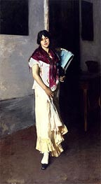 Sargent | Italian Girl with Fan | Giclée Canvas Print