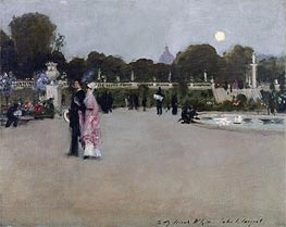 Sargent | Luxembourg Gardens at Twilight | Giclée Canvas Print