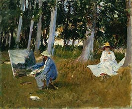 Sargent | Claude Monet Painting by the Edge of a Wood | Giclée Canvas Print