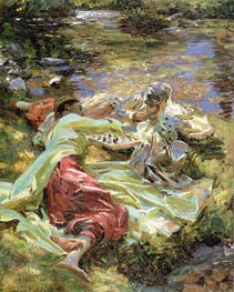 Sargent | The Chess Game | Giclée Canvas Print