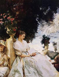 Sargent | In the Garden, Corfu | Giclée Canvas Print