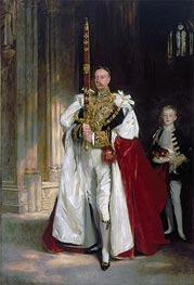 Sargent | Charles Stewart, Sixth Marquess of Londonderry, Carrying the Great Sword of State at the Coronation of King Edward VII | Giclée Canvas Print