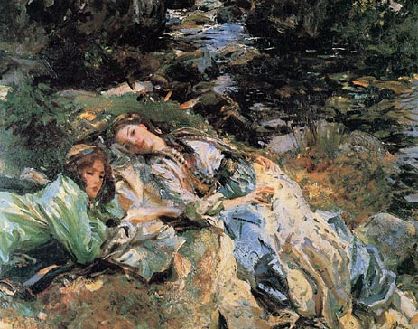 The Brook, c.1907 | Sargent | Painting Reproduction