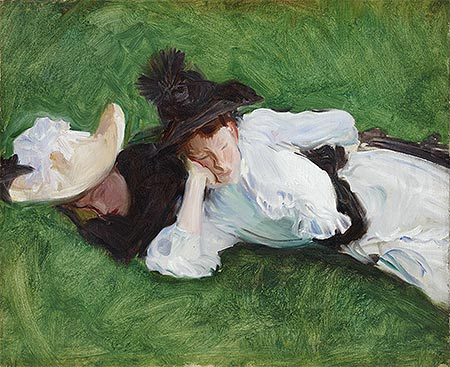 Two Girls on a Lawn, c.1889 | Sargent | Giclée Canvas Print