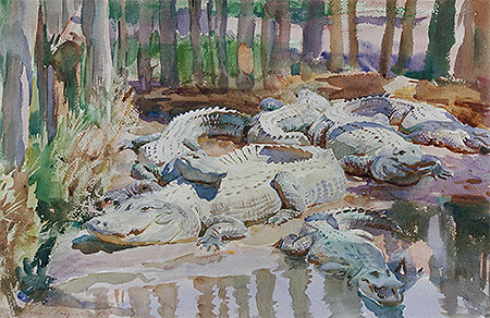 Muddy Alligators, 1917 | Sargent | Giclée Paper Print