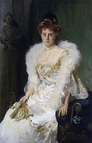 Portrait of Mrs. Charles Beatty Alexander (nee Harriet Crocker), 1902 | Sargent | Painting Reproduction