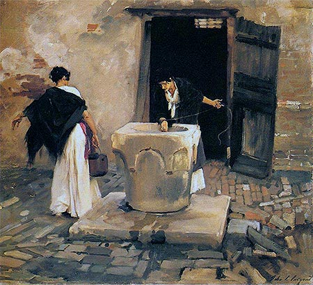 Venetian Water Carriers, c.1880/82 | Sargent | Painting Reproduction