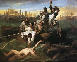 John Singleton Copley | Watson and the Shark, 1778 | Giclée Canvas Print