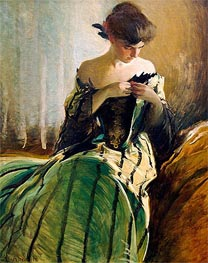 John White Alexander | Study in Black and Green, 1906 | Giclée Canvas Print