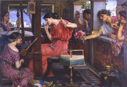 Waterhouse | Penelope and the Suitors | Giclée Canvas Print
