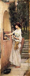 Waterhouse | A Roman Offering, c.1891 | Giclée Canvas Print