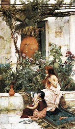Waterhouse | The Toilet (At Capri), 1889 | Giclée Canvas Print