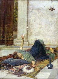 Waterhouse | Dolce Far Niente (The White Feather Fan), 1879 | Giclée Canvas Print