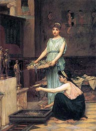 Waterhouse | The Household Gods, 1880 | Giclée Canvas Print