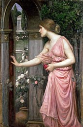 Waterhouse | Psyche Opening the Door into Cupid's Garden, 1904 | Giclée Canvas Print