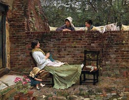 Waterhouse | Gossip, 1911 | Giclée Canvas Print