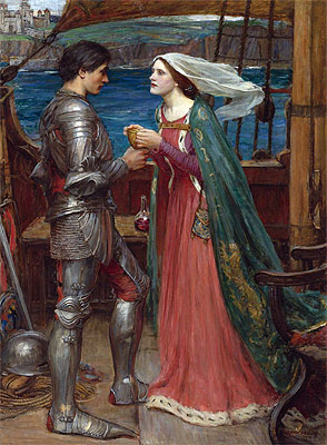 Tristan and Isolde with the Potion, 1916 | Waterhouse | Giclée Canvas Print