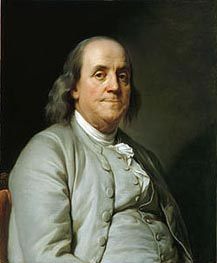 Joseph-Siffred Duplessis | Benjamin Franklin, c.1785 | Giclée Canvas Print