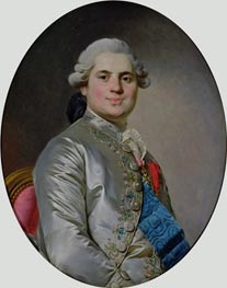 Joseph-Siffred Duplessis | Portrait of Louis of France, Count of Provence, future King Louis XVIII, 1778 | Giclée Canvas Print