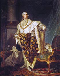 Joseph-Siffred Duplessis | Louis XVI King of France in Coronation Robes, 1777 | Giclée Canvas Print