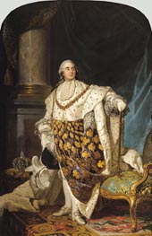 Joseph-Siffred Duplessis | Louis XVI in Coronation Robes, a. 1774 | Giclée Canvas Print