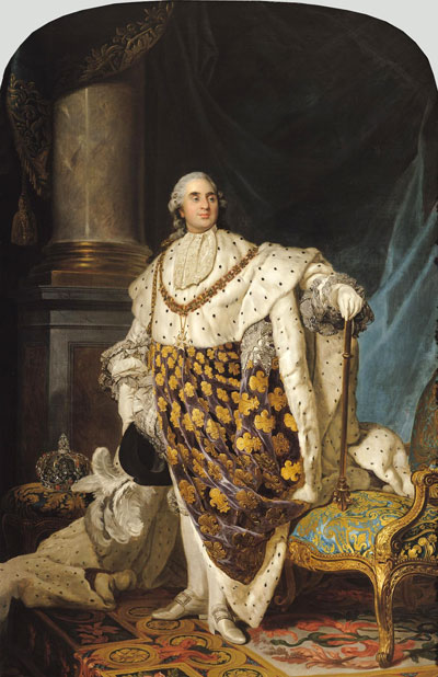 Louis XVI in Coronation Robes, a. 1774   Joseph-Siffred Duplessis   Giclée Canvas Print