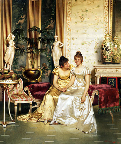 Soulacroix | A Shared Confidence, Undated | Giclée Canvas Print