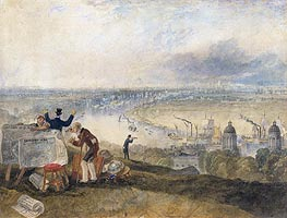 J. M. W. Turner | View of London from Greenwich | Giclée Canvas Print