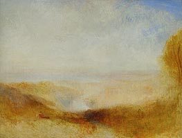 J. M. W. Turner | Landscape with River and a Bay in the far Background | Giclée Canvas Print