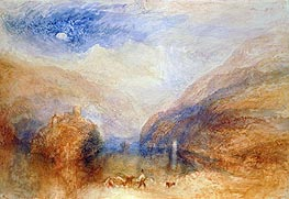 J. M. W. Turner | The Lauerzer See with the Mythens (Lake of Brienz) | Giclée Canvas Print