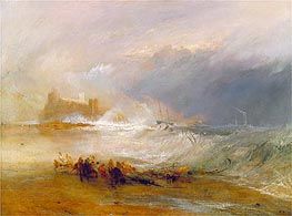 J. M. W. Turner | Wreckers, Coast of Northumberland with a Steam-Boat Assisting a Ship off Shore | Giclée Canvas Print