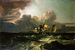 J. M. W. Turner | Ships Bearing up for Anchorage (The Egremont Sea Piece) | Giclée Canvas Print