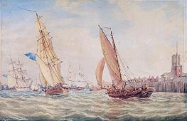 J. M. W. Turner | Three Sloops of War and a Fishing Smack going into Harbour, Portsmouth | Giclée Paper Print