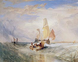 J. M. W. Turner | Now for the Painter (Rope) - Passengers Going on Board, 1827 | Giclée Canvas Print