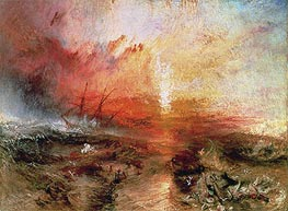 J. M. W. Turner | Slave Ship (Slavers Throwing Overboard the Dead and Dying, Typhoon Coming On) | Giclée Paper Print